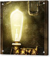 Steampunk - Alphabet - L Is For Light Bulb Acrylic Print