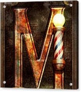 Steampunk - Alphabet - M Is For Mustache Acrylic Print