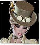 Steampunk Blond Woman Acrylic Print