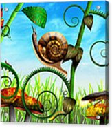 Steampunk - Bugs - Evolution Take Time Acrylic Print