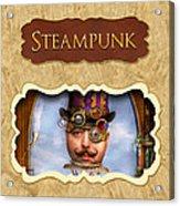 Steampunk Button Acrylic Print