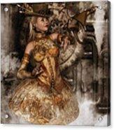 Steampunk Dragon Friend Acrylic Print