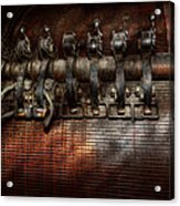 Steampunk - Electrical - Motorized  Acrylic Print by Mike Savad
