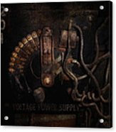 Steampunk - Electrical - Rotary Switch Acrylic Print by Mike Savad