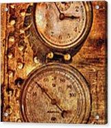 Steampunk - Gauges Acrylic Print