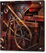 Steampunk - Gear - Belts And Wheels  Acrylic Print by Mike Savad