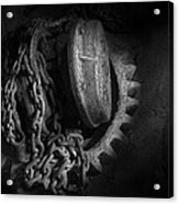 Steampunk - Gear - Hoist And Chain Acrylic Print by Mike Savad