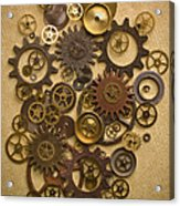 Steampunk Gears Acrylic Print by Diane Diederich
