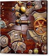 Steampunk - Gears - Reverse Engineering Acrylic Print by Mike Savad