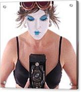Steampunk Geisha Photographer II Acrylic Print