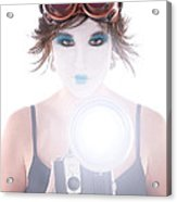 Steampunk Geisha Photographer Acrylic Print