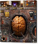 Steampunk - Information Overload Acrylic Print by Mike Savad