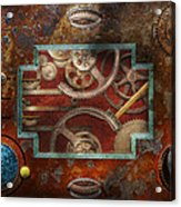 Steampunk - Pandora's Box Acrylic Print by Mike Savad