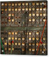 Steampunk - Phones - The Old Switch Board Acrylic Print