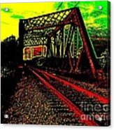 Steampunk Railroad Truss Bridge Acrylic Print