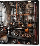 Steampunk - Room - Steampunk Studio Acrylic Print by Mike Savad