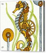 Steampunk Seahorse Acrylic Print by Nora Blansett