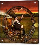 Steampunk - The Gentleman's Monowheel Acrylic Print by Mike Savad