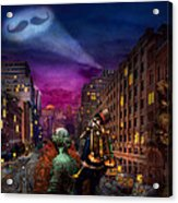 Steampunk - The Great Mustachio Acrylic Print by Mike Savad