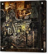Steampunk - The Turret Computer  Acrylic Print by Mike Savad