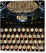 Steampunk - Typewriter -the Royal Acrylic Print by Paul Ward