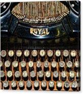 Steampunk - Typewriter -the Royal Acrylic Print