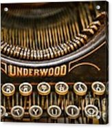 Steampunk - Typewriter - Underwood Acrylic Print by Paul Ward