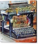 Steampunk - Vintage Typewriter Acrylic Print