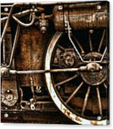 Steampunk- Wheels Of Vintage Steam Train Acrylic Print