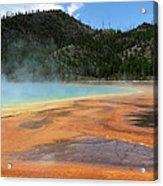 Steamy Yellowstone Acrylic Print