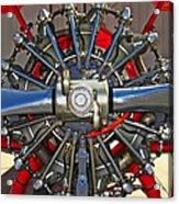 Stearman Engine Acrylic Print