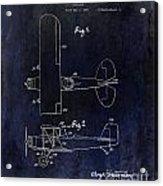 1929 Stearman Patent Drawing Blue Acrylic Print