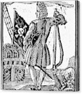 Stede Bonnet (c1688-1718) Acrylic Print