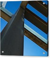 Steel Blue - Industrial Abstract Acrylic Print by Steven Milner