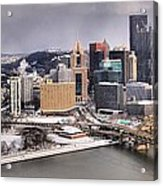 Steel City Storm Clouds Acrylic Print