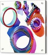 Steel Gears Acrylic Print