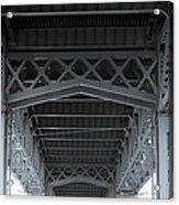 Steel Girder Bridge Acrylic Print