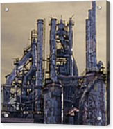 Steel Mill - Bethlehem Pa Acrylic Print by Bill Cannon