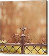 Steel Ornamented Fence Acrylic Print