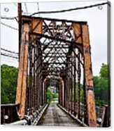 Steel Span Railroad Bridge Manayunk  Philadelphia Pa Acrylic Print