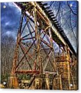 Steel Strong Rr Bridge Over The Yellow River Acrylic Print