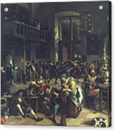 Steen: Merrymaking, 1674 Acrylic Print
