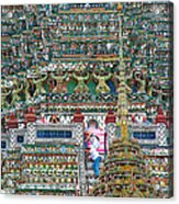 Steep Stairs Lead To Higher Level Of Temple Of The Dawn-wat Arun In Bangkok-thailand Acrylic Print