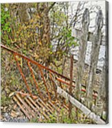 Steep Steps To Beach - Finger Lakes Acrylic Print