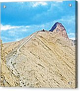 Steep Trail To Manly Beacon From Golden Canyon In Death Valley National Park-california  Acrylic Print