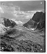 109629-bw-steeple And Temple Peaks, Wind Rivers Acrylic Print