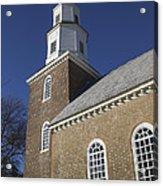 Steeple At Bruton Parish Church Acrylic Print
