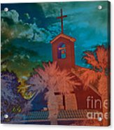 Steeple Bell Tower Acrylic Print by Beverly Guilliams