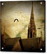 Steeple Crows Acrylic Print