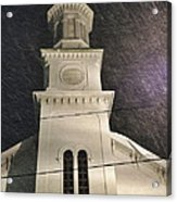 Steeple In A Snowstorm Acrylic Print